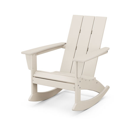 Modern Adirondack Rocking Chair in Sand