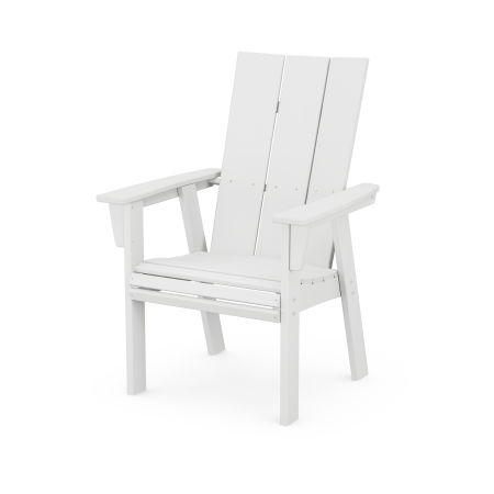 Modern Adirondack Dining Chair in White