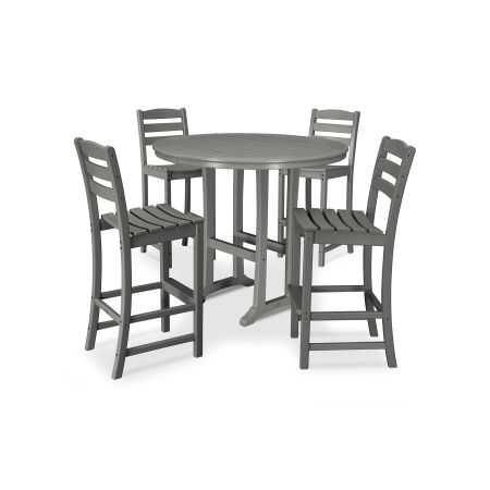 La Casa Café 5 Piece Side Chair Bar Dining Set