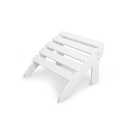 Classics Folding Ottoman in White