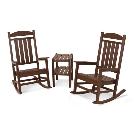 Presidential 3-Piece Rocking Chair Set in Mahogany