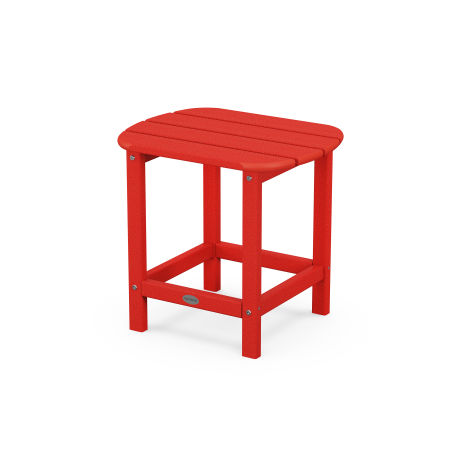 "18"" Side Table in Sunset Red"