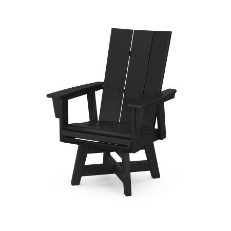 Modern Adirondack Swivel Dining Chair in Black