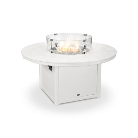 "Round 48"" Fire Pit Table in White"