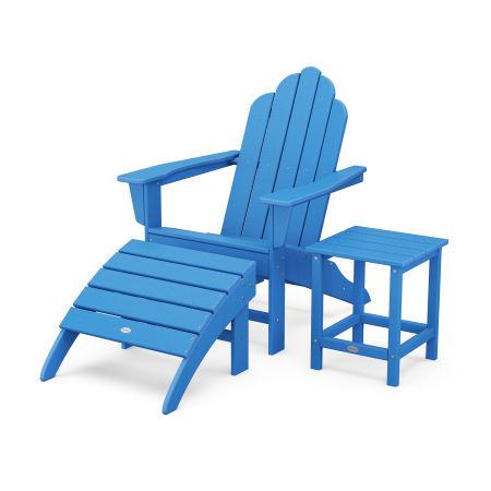 Long Island Adirondack 3-Piece Set in Pacific Blue