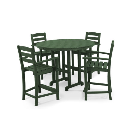 La Casa Café 5-Piece Counter Set in Green