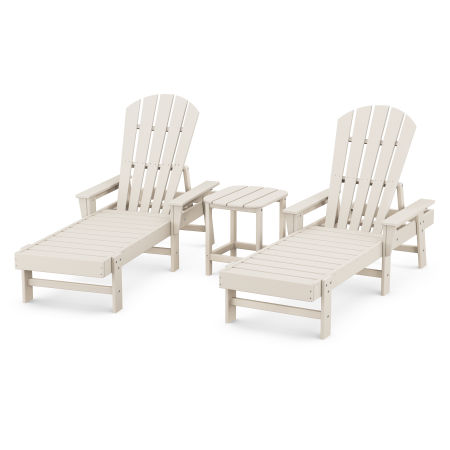 South Beach Chaise 3-Piece Set in Sand
