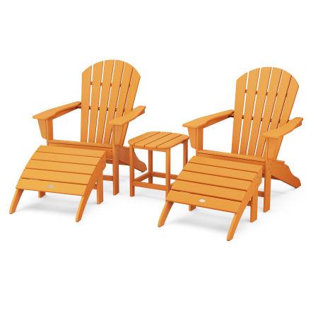 South Beach Adirondack 5-Piece Set in Tangerine