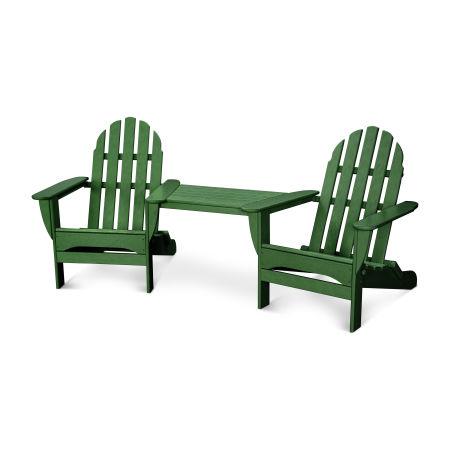 Classic Adirondack Tête-à-Tête Set in Green