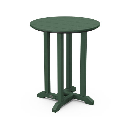 """24"""" Round Dining Table in Green"""