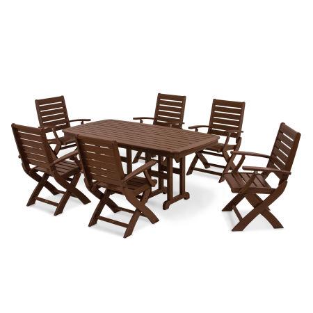 Signature 7-Piece Dining Set in Mahogany