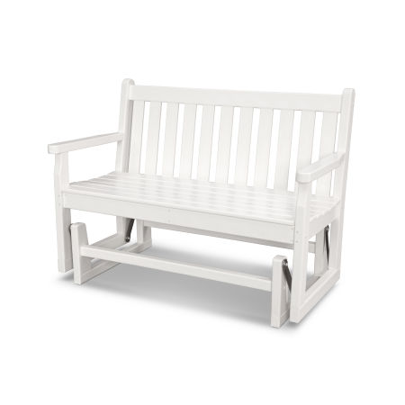 "Traditional Garden 48"" Glider in White"