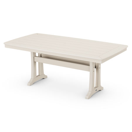 """38"""" x 73"""" Dining Table in Sand"""