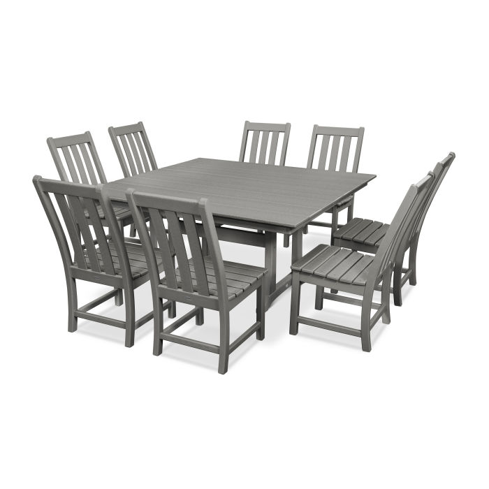 Vineyard 9-Piece Farmhouse Trestle Dining Set