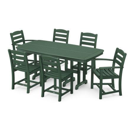 La Casa Café 7-Piece Dining Set in Green