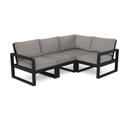 EDGE 4-Piece Modular Deep Seating Set in Black / Grey Mist