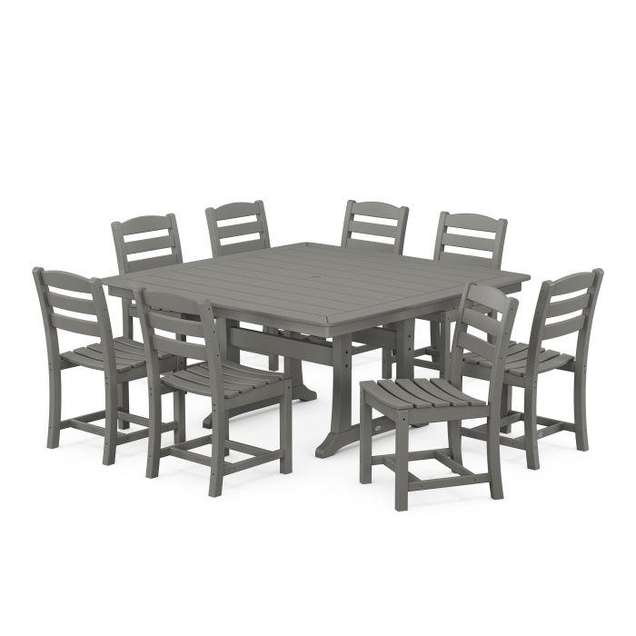 La Casa Café 9-Piece Farmhouse Trestle Dining Set