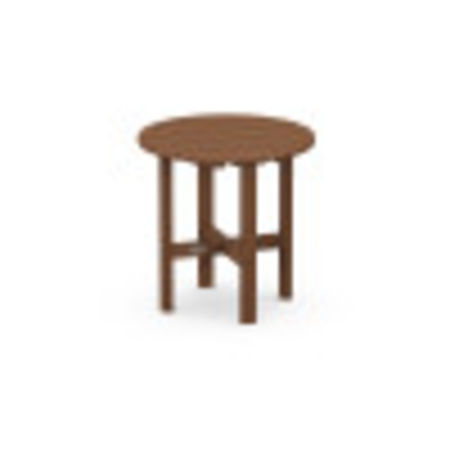 """Round 18"""" Side Table in Teak"""