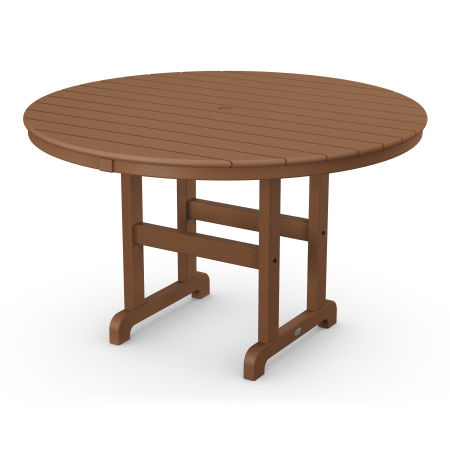 """Round 48"""" Dining Table in Teak"""