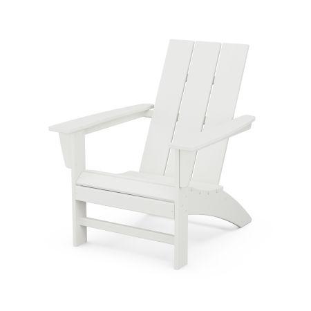 Modern Adirondack Chair in Vintage White