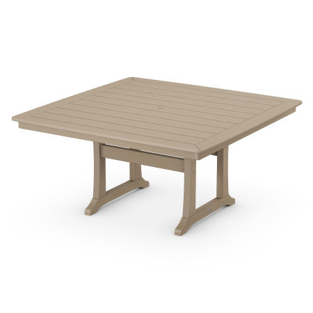 """Nautical Trestle 59"""" Dining Table in Vintage Sahara"""