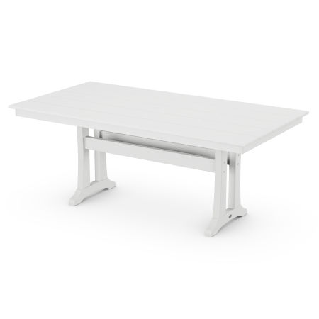"37"" x 72"" Dining Table in White"