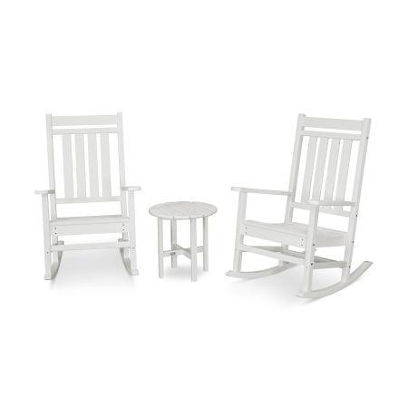 Estate 3-Piece Rocking Chair Set in Vintage White