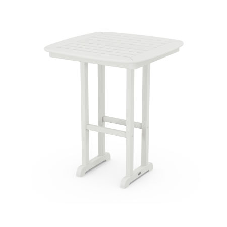 """Nautical 31"""" Counter Table in Vintage White"""