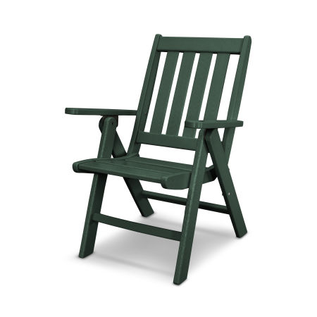 Vineyard Folding Dining Chair in Green