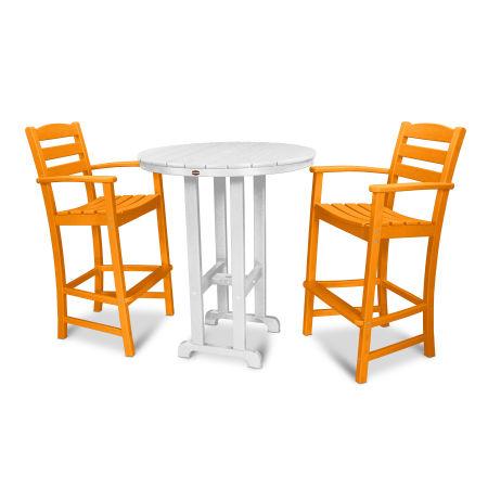 La Casa Café 3-Piece Bar Set in Tangerine