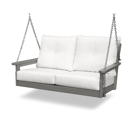 Vineyard Deep Seating Swing in Slate Grey / Natural