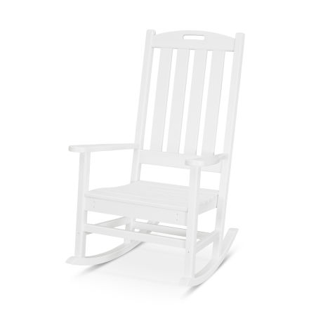 Nautical Porch Rocking Chair in White