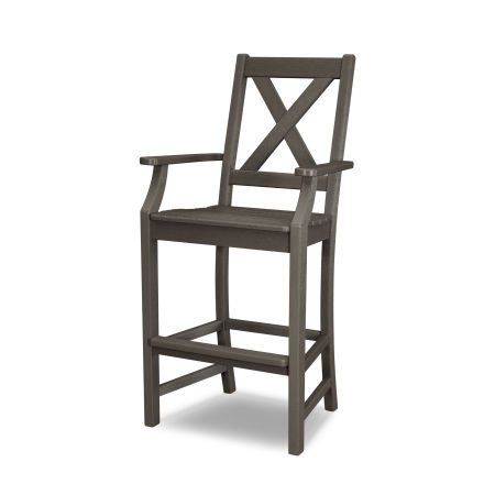 Braxton Bar Arm Chair in Vintage Finish