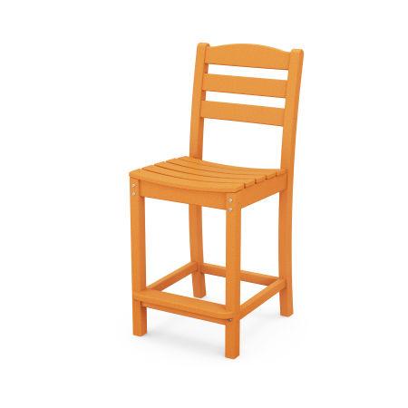 La Casa Café Counter Side Chair in Tangerine