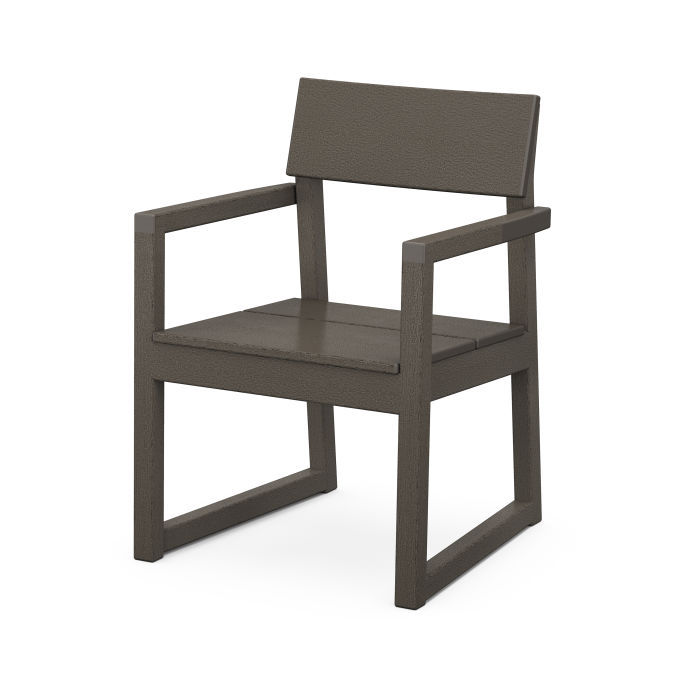 EDGE Dining Arm Chair in Vintage Finish