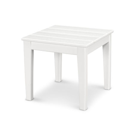 "Newport 18"" End Table in White"