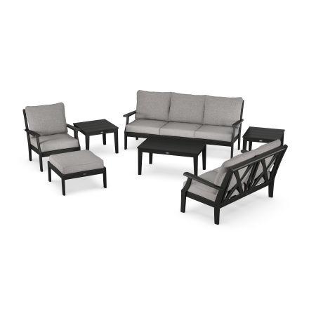 Braxton 7-Piece Deep Seating Set in Black / Grey Mist