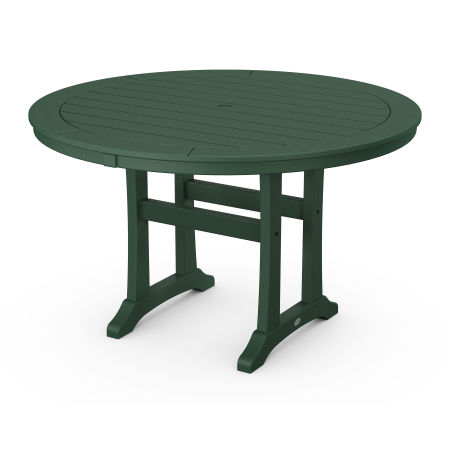 """48"""" Round Dining Table in Green"""