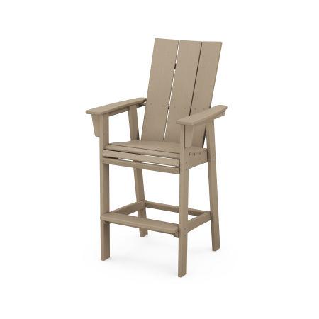 Modern Adirondack Bar Chair in Vintage Sahara