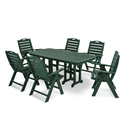 Nautical 7-Piece Dining Set in Green