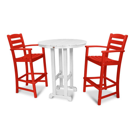 La Casa Café 3-Piece Bar Set in Sunset Red