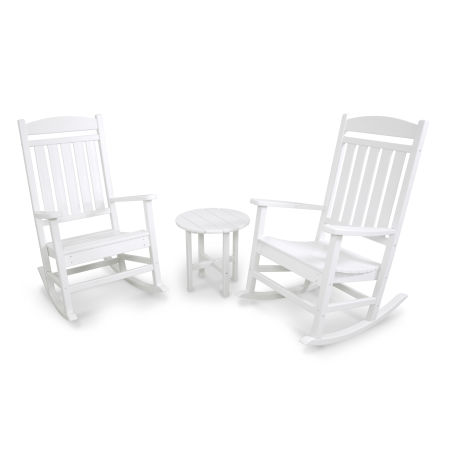 Classics 3-Piece Rocker Seating Set in White