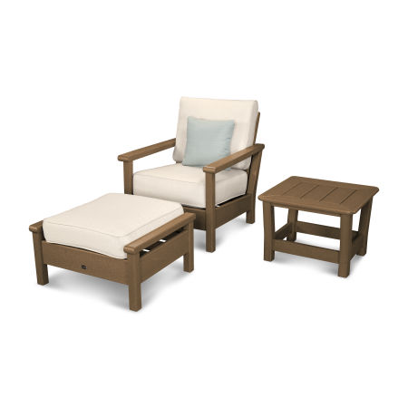 Harbour 3-Piece Set in Teak / Antique Beige