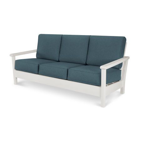Harbour Deep Seating Sofa in Vintage White / Blend Lagoon