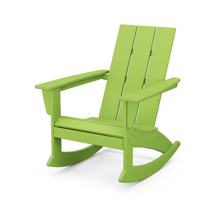 Modern Adirondack Rocking Chair in Lime