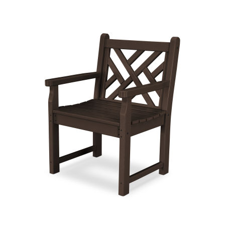 Chippendale Garden Arm Chair in Mahogany