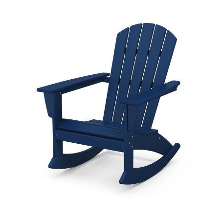 Nautical Adirondack Rocking Chair in Navy
