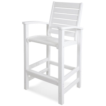 Signature Bar Chair in White