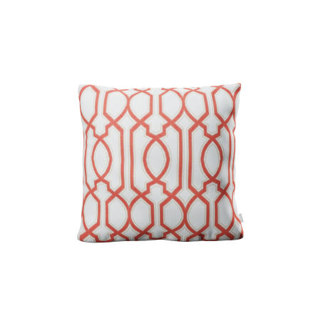 "20"" Outdoor Throw Pillow by POLYWOOD® in Chelsey Trellis Coral"