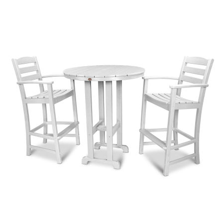 La Casa Café 3-Piece Bar Set in White